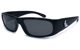 Trucker Babe Sunglasses -UV400 protection - Black & Chrome Logo