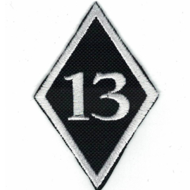PATCH - diamond - no. 13 - Number THIRTEEN - #13