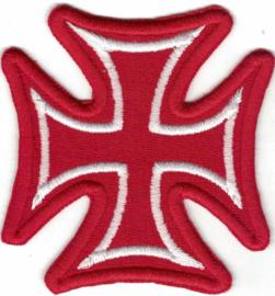 375 - Patch - Red & White - Malteser Cross - Iron Cross