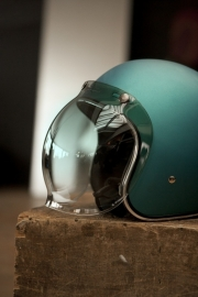 Biltwell Jet - Bubble Visor - Green Gradient - Bubble Shield