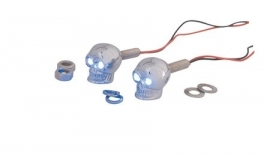 Skull - LED - CHROME - fasteners