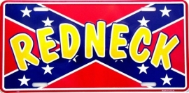 License Funny Plate - Redneck on Rebel flag