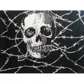 Skull with Barbed Wire Scarf/Big Bandana