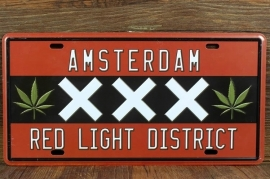 Funny Plate - Amsterdam Red Light District