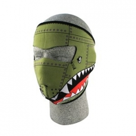 Face Mask - Full - Bomber - reversable to black - Zan HeadGear