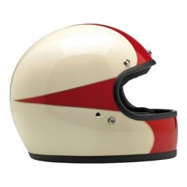 BiltWell - Gringo Helmet - ANTIQUE WHITE/RED - XXL only