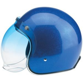 Biltwell Jet - Bubble Visor - Blue Gradient - Bubble Shield