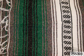 Mexican blanket - Green White Black - Original Mexico