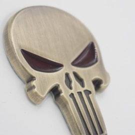 The Punisher - METAL DECAL /  STICKER - Bronze / Brass