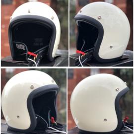 TT&CO Jet Helmet - Vintage White - 500-TX STANDARD IVORY