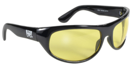 Sunglasses - Kickstart - THE WRAP - Yellow/Black by KD's