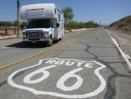 Route 66 - Embossed Shield - Metal Plate