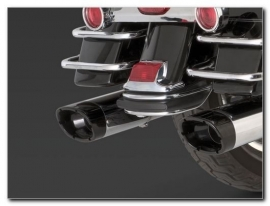 Vance & Hines Monster Ovals Slip-On Chrome Mufflers / black endcaps