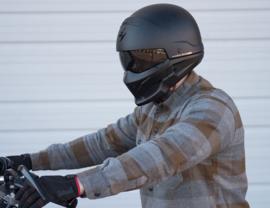 Scorpion Exo-Combat Helmet Black - (streetlegal)