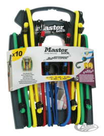 Master Lock - Bungee Cord SET (10x)  - Reverse Twin Wire Hook