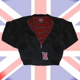 UK Jacket - Black & Special Lining - Harrington Jacket