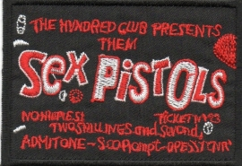 017 - Patch - Sex Pistols - The Hundred Club Presents...
