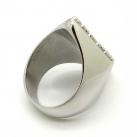 1% - One Percenter Ring - Red & Silver