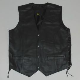 Leather Vest - side laces