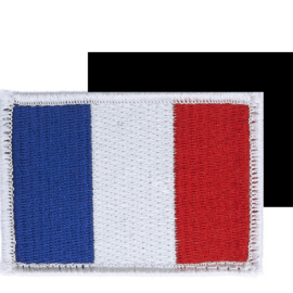 VELCRO PATCH - French Flag - France - drapeau Francais