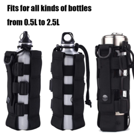 Custom Fuel/Drink Bottle Holder  - Black/Molle