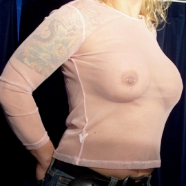 Pink See Through Longsleeve - One Size fits Many!