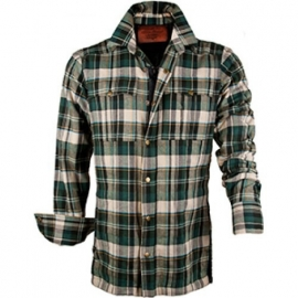 Protective Woodcutter Shirt - Green Creme Check - King Kerosin  XXL only