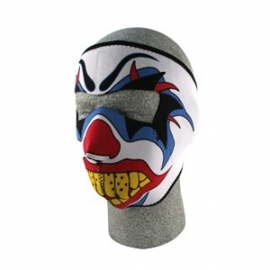 Face Mask - Full - Terror Clown - reversable to black - Zan HeadGear