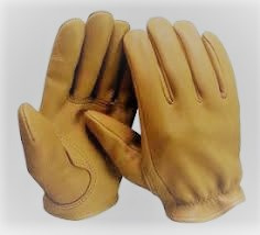 Gloves - Short Biker Gloves - Natural Tan - Soft Leather