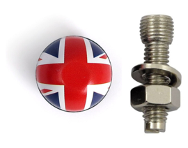 License Plate Mounts - British Flags - UK - TrikTopz - Bolts/Nuts