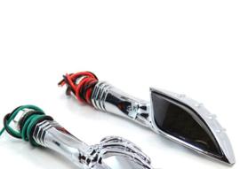 LED TURN SIGNALS - Skeleton Hand, for Harley-Davidson and other brands