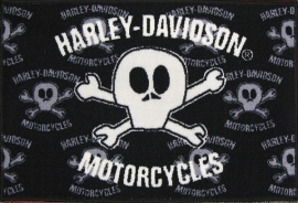 Harley Davidson Indoor Outdoor Licensed Rug - Comic Skull