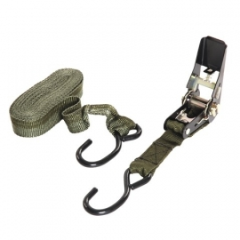 Strap - tie down army green 4,5 meter - Spanband