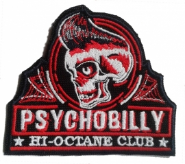181 - PATCH -Skull -  PSYCHOBILLY * Hi-Octane Club * King Kerosin HotRod Wear
