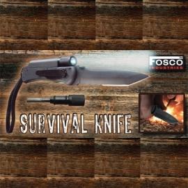 Survival Knife with Flashlight & Firestarter - Survival / Army