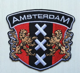 381 - Patch - City Shield with Lions - AMSTERDAM