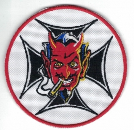 192 - Patch - Devil, Cigar, Iron Cross - Coop Original