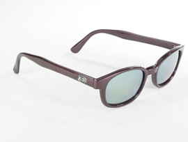 Sunglasses - Classic KD's - FLASH - DARk AUBERGINE frame & GOLD MIRROR lens