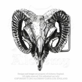 Alchemy - Ram's Skull - Handcrafted Belt Buckle