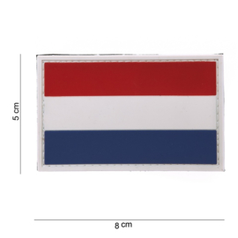Patch - Dutch Flag - 3D Vlag Holland - VELCRO / PVC - NEW