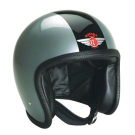 DAVIDA Silver Black Ninety 2 Helmet - SILVER, BLACK STRIPE