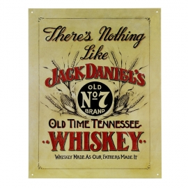 Large Metal Plate: Jack Daniels - Old time Tennessee