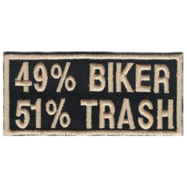 GOLDEN PATCH - 49% BIKER  51% TRASH