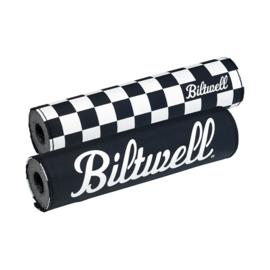 BILTWELL HANDLEBAR PAD - Reversible Checkers / Black