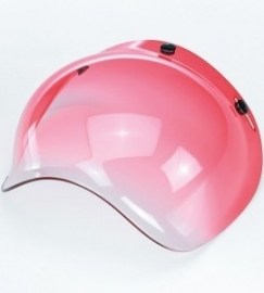 Bubble Visor - Red Gradient - Bubble Shield for Jet Helmet