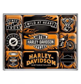 Harley-Davidson magnet set - Wild at Heart - 1903