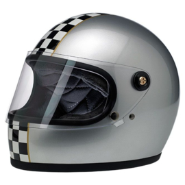 BiltWell - Gringo S Helmet -  LE Checker, Metallic Silver  - MEDIUM ONLY!