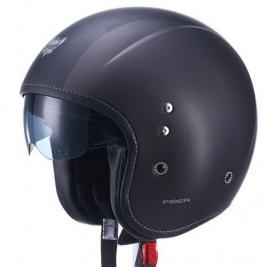 Barock - Pilot Helmet  - integrated tinted visor -  Flat Black - ECE 22.05