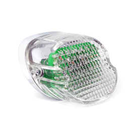 LAYDOWN TAILLIGHT CLEAR LENS, LED - 73-98 H-D - and up (READ)