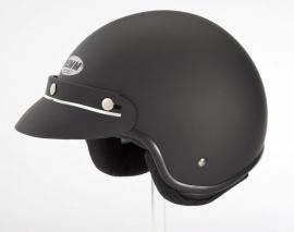 Demm - Police Biker Jet helmet - Flat Black - ECE 22.05